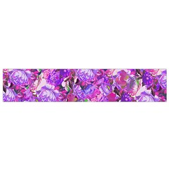 Flowers Abstract Digital Art Flano Scarf (Small)
