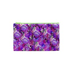 Flowers Abstract Digital Art Cosmetic Bag (xs)