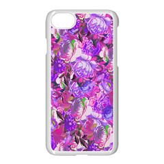 Flowers Abstract Digital Art Apple Iphone 7 Seamless Case (white)