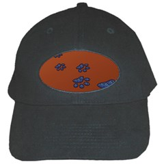 Footprints Paw Animal Track Foot Black Cap