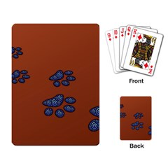 Footprints Paw Animal Track Foot Playing Card