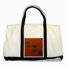 Footprints Paw Animal Track Foot Two Tone Tote Bag