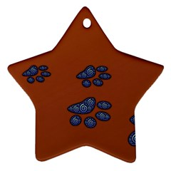 Footprints Paw Animal Track Foot Star Ornament (two Sides)