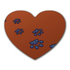 Footprints Paw Animal Track Foot Heart Mousepads