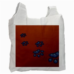 Footprints Paw Animal Track Foot Recycle Bag (One Side)
