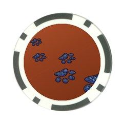 Footprints Paw Animal Track Foot Poker Chip Card Guard (10 Pack)
