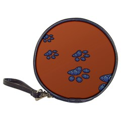 Footprints Paw Animal Track Foot Classic 20 Cd Wallets