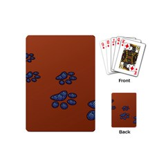 Footprints Paw Animal Track Foot Playing Cards (mini)