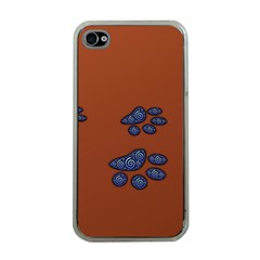 Footprints Paw Animal Track Foot Apple Iphone 4 Case (clear)