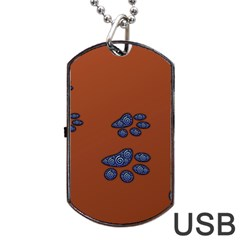 Footprints Paw Animal Track Foot Dog Tag Usb Flash (one Side)