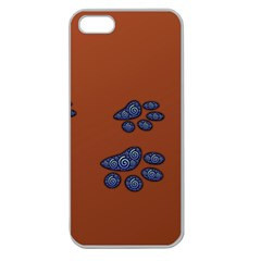 Footprints Paw Animal Track Foot Apple Seamless Iphone 5 Case (clear)