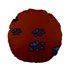 Footprints Paw Animal Track Foot Standard 15  Premium Round Cushions