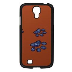 Footprints Paw Animal Track Foot Samsung Galaxy S4 I9500/ I9505 Case (black)