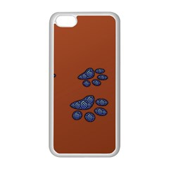 Footprints Paw Animal Track Foot Apple Iphone 5c Seamless Case (white)