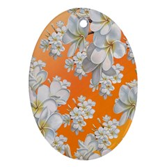 Flowers Background Backdrop Floral Ornament (oval)