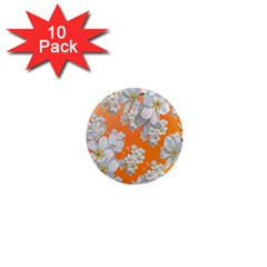 Flowers Background Backdrop Floral 1  Mini Magnet (10 Pack)