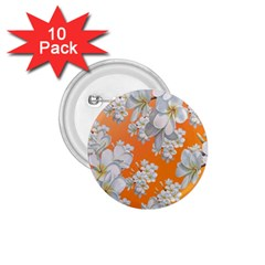 Flowers Background Backdrop Floral 1 75  Buttons (10 Pack)