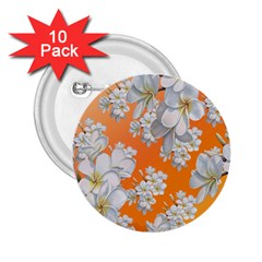 Flowers Background Backdrop Floral 2 25  Buttons (10 Pack)