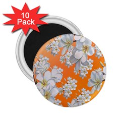 Flowers Background Backdrop Floral 2.25  Magnets (10 pack)