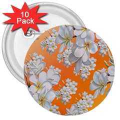 Flowers Background Backdrop Floral 3  Buttons (10 pack)