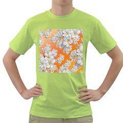 Flowers Background Backdrop Floral Green T-Shirt