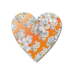 Flowers Background Backdrop Floral Heart Magnet