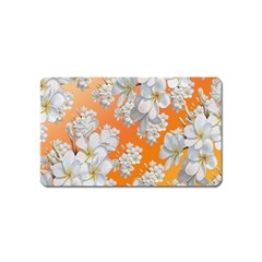 Flowers Background Backdrop Floral Magnet (name Card)