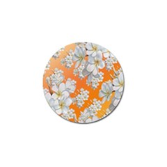Flowers Background Backdrop Floral Golf Ball Marker (4 Pack)