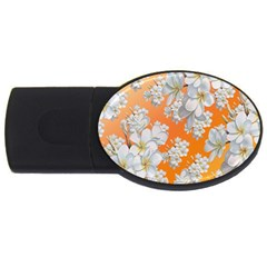 Flowers Background Backdrop Floral Usb Flash Drive Oval (2 Gb)