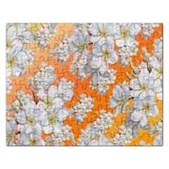 Flowers Background Backdrop Floral Rectangular Jigsaw Puzzl