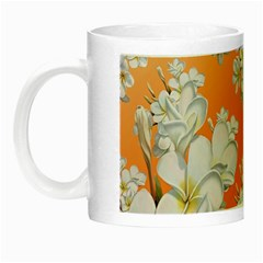 Flowers Background Backdrop Floral Night Luminous Mugs