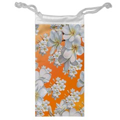 Flowers Background Backdrop Floral Jewelry Bag