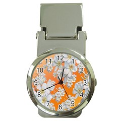 Flowers Background Backdrop Floral Money Clip Watches