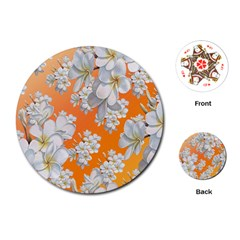 Flowers Background Backdrop Floral Playing Cards (round)