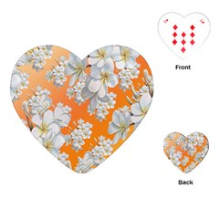 Flowers Background Backdrop Floral Playing Cards (heart)