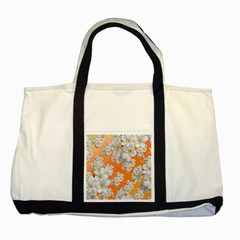 Flowers Background Backdrop Floral Two Tone Tote Bag