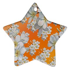 Flowers Background Backdrop Floral Star Ornament (two Sides)
