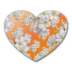 Flowers Background Backdrop Floral Heart Mousepads