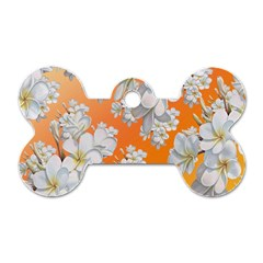 Flowers Background Backdrop Floral Dog Tag Bone (two Sides)