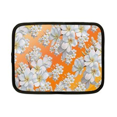 Flowers Background Backdrop Floral Netbook Case (small)
