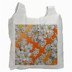 Flowers Background Backdrop Floral Recycle Bag (two Side)