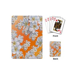 Flowers Background Backdrop Floral Playing Cards (mini)
