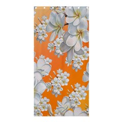 Flowers Background Backdrop Floral Shower Curtain 36  X 72  (stall)