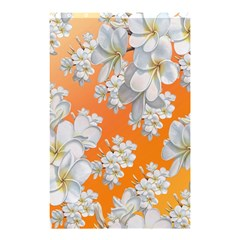 Flowers Background Backdrop Floral Shower Curtain 48  X 72  (small)