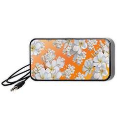 Flowers Background Backdrop Floral Portable Speaker (Black)