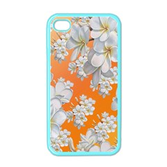 Flowers Background Backdrop Floral Apple Iphone 4 Case (color)