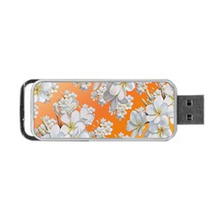 Flowers Background Backdrop Floral Portable Usb Flash (one Side)