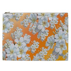 Flowers Background Backdrop Floral Cosmetic Bag (xxl)