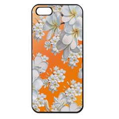 Flowers Background Backdrop Floral Apple Iphone 5 Seamless Case (black)