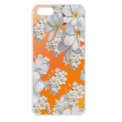 Flowers Background Backdrop Floral Apple Iphone 5 Seamless Case (white)